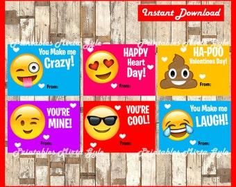 Emoji Valentine Card Etsy