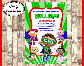 Super why birthday invitation with picture digital file super super why invitation printable super why birthday invitation super why invitation filmwisefo