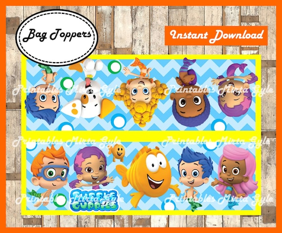 graphic relating to Bubble Guppies Printable known as Bubble Guppies Luggage Topper, printable Bubble Guppies celebration Baggage Topper, Bubble Guppies deal with baggage toppers