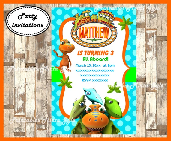 Dinosaur Train Invitation Printable Birthday