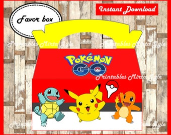 Pokemon Gable Box Printable Party Instant Download