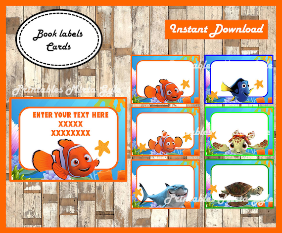 Personalised FINDING NEMO Candle Label//Sticker  Perfect Birthday Gift Idea