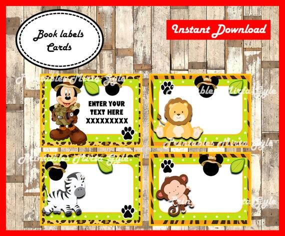 Mickey Safari Tent Cards Safari Party Mickey Safari Decor Minnie Safari Decor Mickey Mouse Safari Place Cards Safari Food Labels