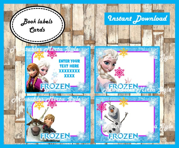 image regarding Frozen Printable Labels titled Frozen Printable Playing cards, tags, guide labels, stickers, youngsters playing cards, reward tags, labeling, sbooking EDITABLE Words - Design and style