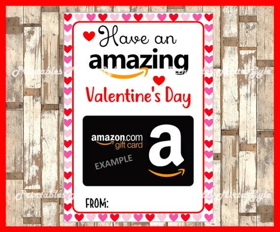 Amazon Valentine Gift Card Holder Printable Editable Gift Etsy