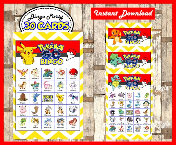 Pokemon Bingo 30 Cards Printable Game