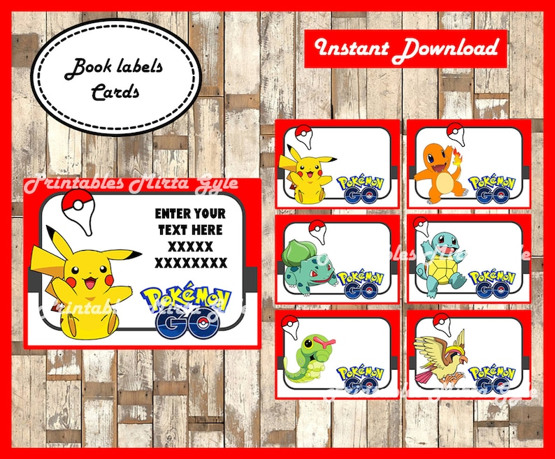 photo relating to Pokemon Printable Cards titled Pokemon Printable Playing cards, tags, ebook labels, stickers, children playing cards, present tags, labeling, sbooking EDITABLE Terms - Model