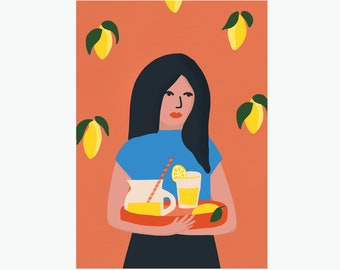 life, lemons, lemonade! A5 miniposter / card.