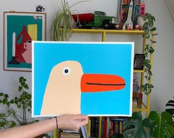 Goose, 4 layers screenprint 30x40 CM