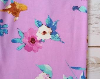 Infinity Scarf, Spring Floral Spray on Lavender
