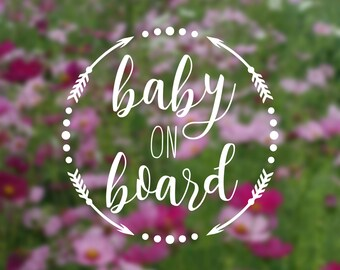 Baby on board car decal!