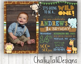 Jungle invitation Etsy