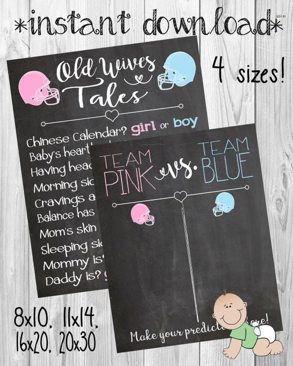 Gender Reveal Party Football Ideas Team Pink Vs Blue Touchdowns Or Tiaras Tutus Old Wives Tales