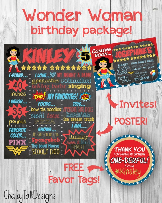 Wonder Woman Birthday Party Ideas Invitations