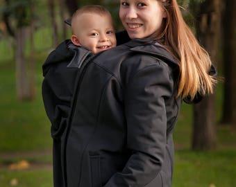 707b6499a45 Softshell Babywearing jacket 4 in 1