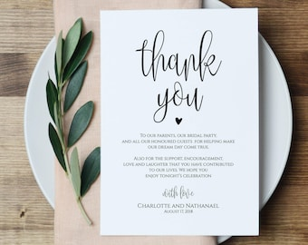 Wedding Thank You Note.Wedding Thank You Etsy