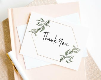 Thank You Card Template Etsy