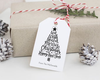 christmas tag template personalized christmas favor tag etsy