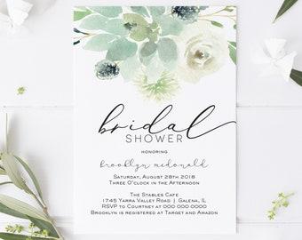 9c57c7568c42 Succulent Bridal Shower Invitation