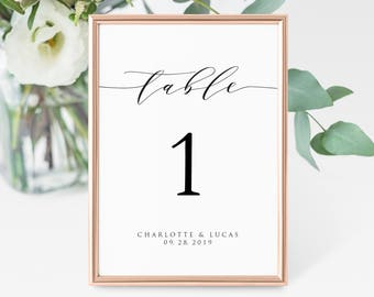 4x6 table number etsy