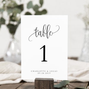 Vintage Monogram Digital File Personalized Printable File Available 00097-TNA7 Literary Wedding Table Numbers