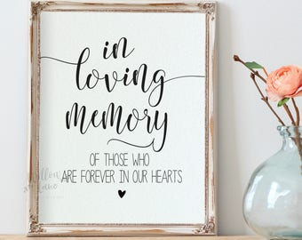 Wedding Memory Sign Etsy