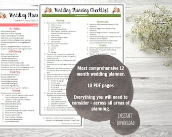 wedding checklist etsy