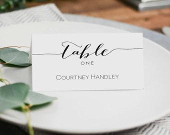 Printable Escort Cards Template printable escort card wedding place ...