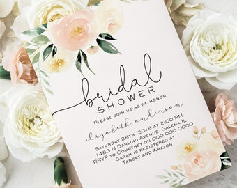 blush bridal shower invitation template bridal shower invitation printable instant download editable pdf wlp blu 751