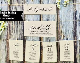 Wedding Seating Chart Template Table Seating Chart Printable