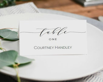 place card template wedding escort card printable seating card name card instant download editable text wlp scr 1190