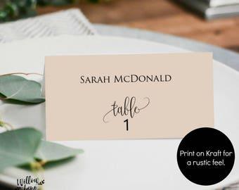 Wedding escort cards Etsy