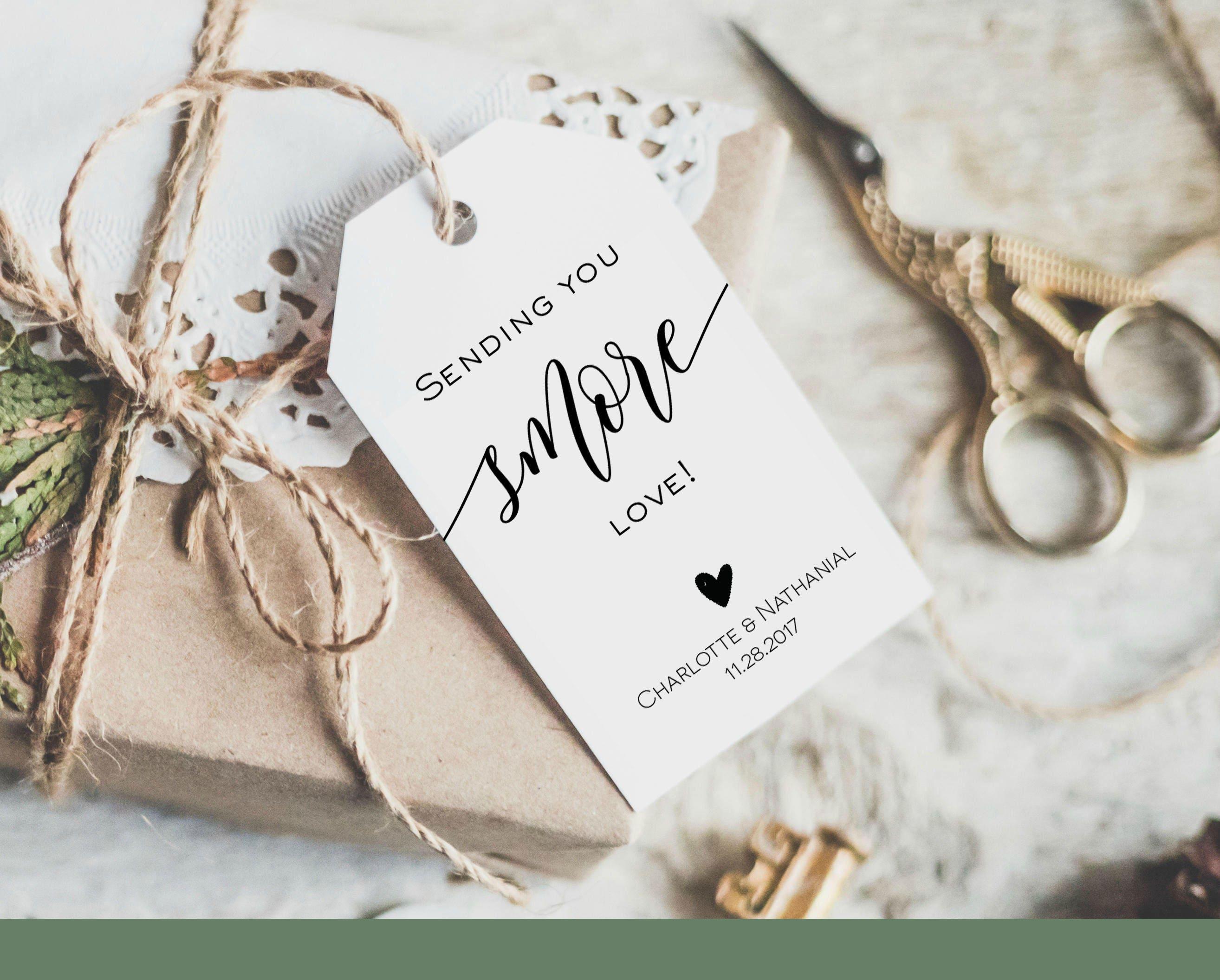 Sending you Smore Love Tag Wedding Favor Tag Template