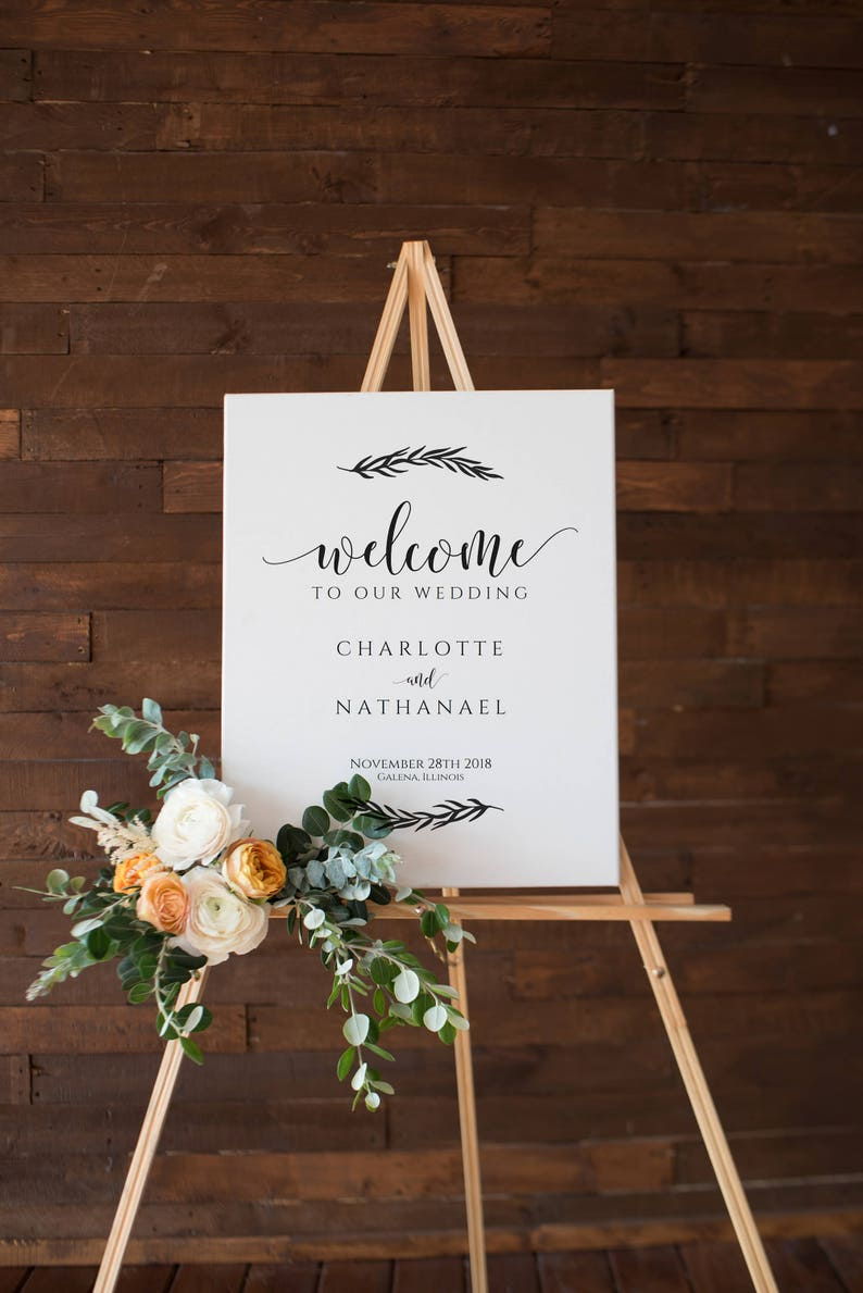 bde2a5e3ee1a9 Printable Wedding Welcome Sign, Welcome to our Wedding Poster, Instant  Download Editable PDF, WLP420