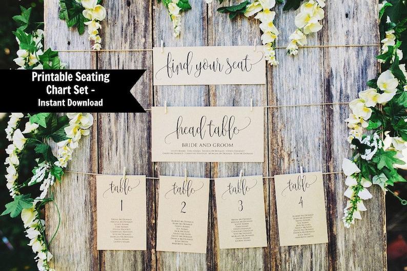 Wedding Seating Chart Template Seating Chart Printable image 1