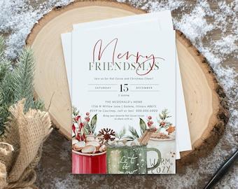 Christmas Party Invitation, Friendmas Party Invitation, Holiday Party Invitation, Instant Download, Edit with TEMPLETT, WLP4489
