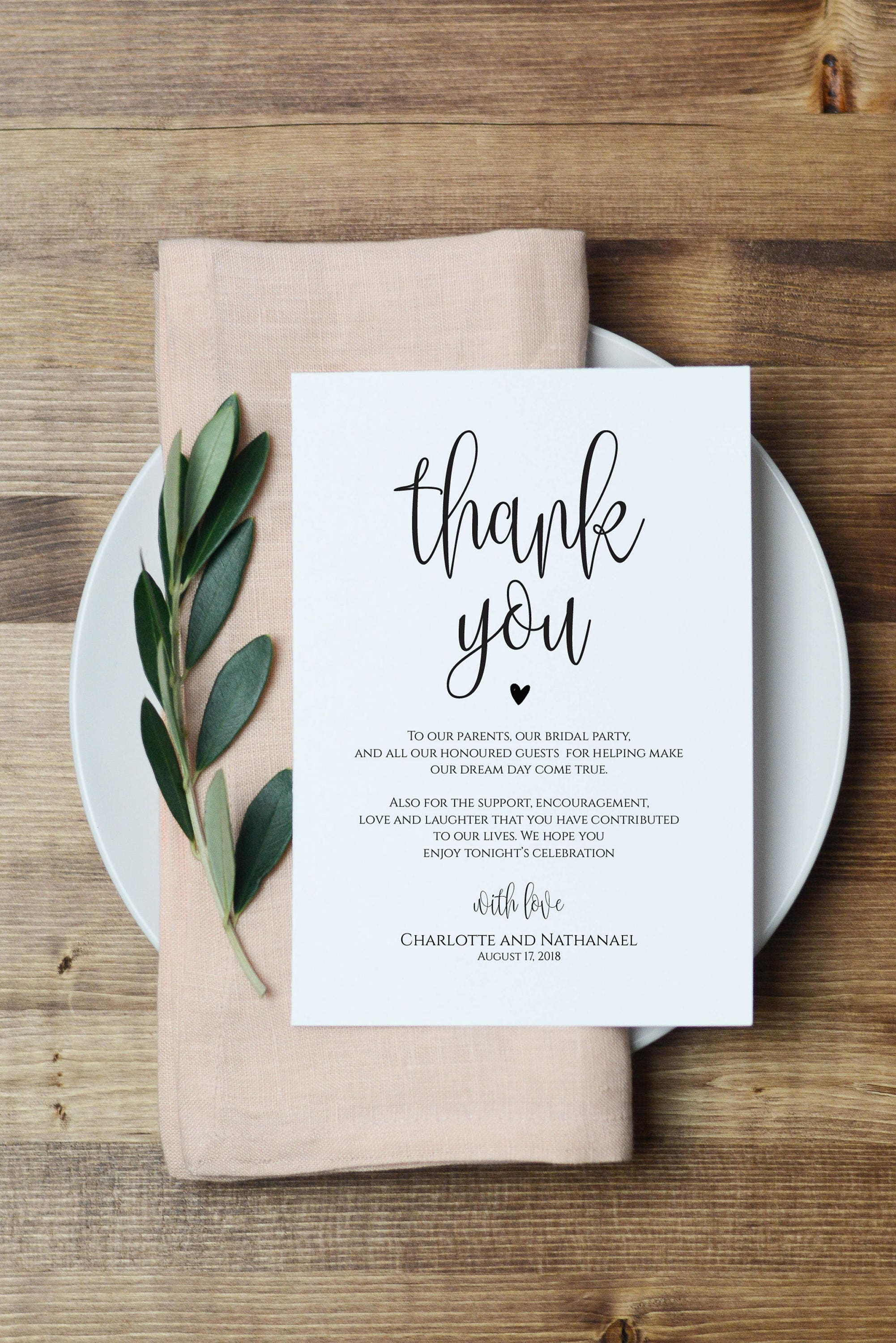 wedding thank you note printable thank you card template. Black Bedroom Furniture Sets. Home Design Ideas
