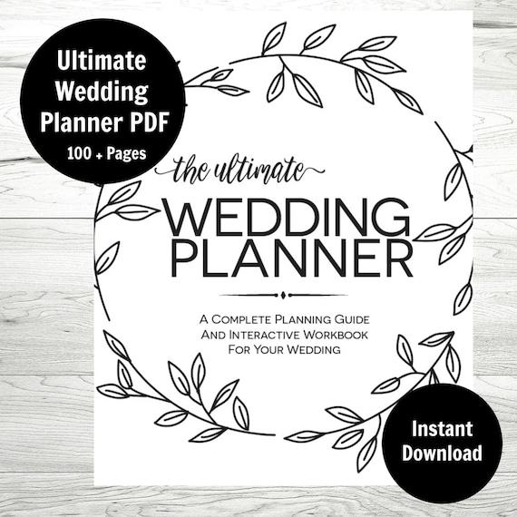 Wedding Planner Printable Wedding Binder Wedding Checklist Etsy