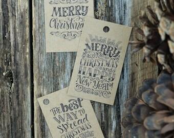Christmas Tags, Printable christmas Gift Tags, Christmas Favor Tags, Instant Download, Merry Christmas Tags, Christmas Cheer Tags