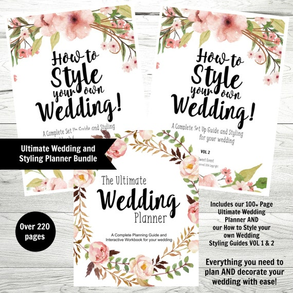 Wedding Planner Bundle Printable Wedding Styling Guide | Etsy