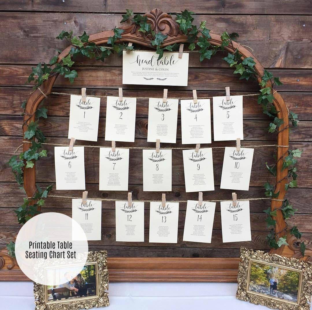 wedding seating chart template printable wedding sign and