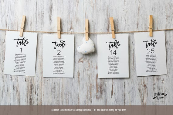 wedding table seating template wedding seating chart etsy