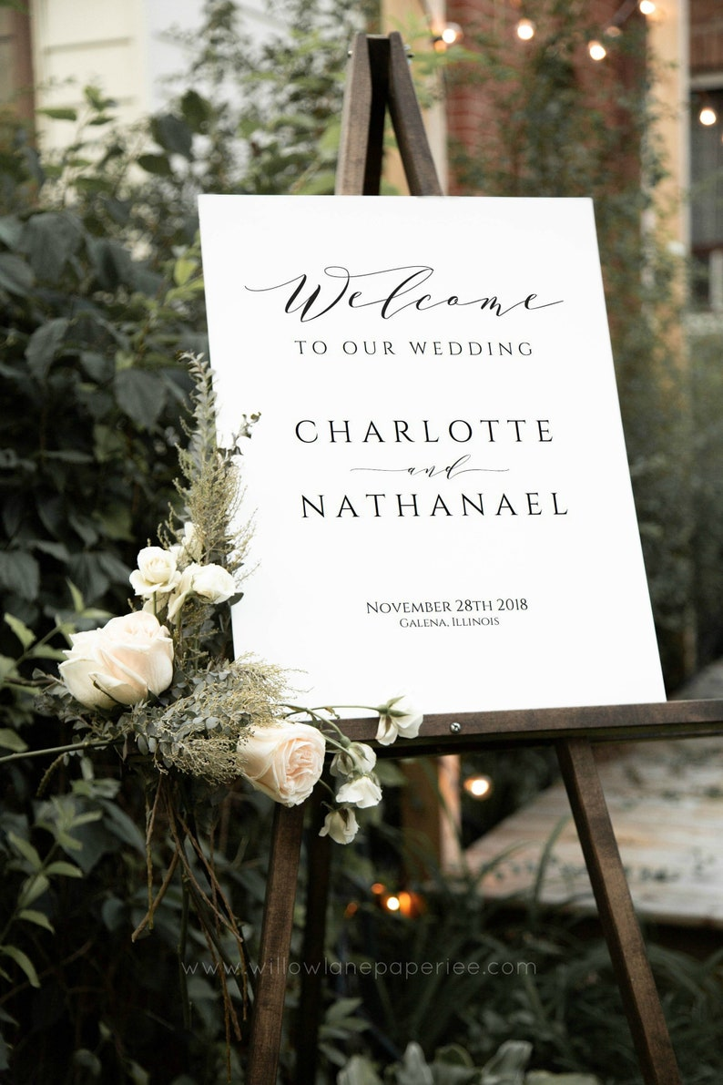 f2b4fb73aba91 Printable Wedding Welcome Sign, Welcome to our Wedding Poster, Wedding  Welcome Poster, Instant Download PDF, WLP-SCR 1556