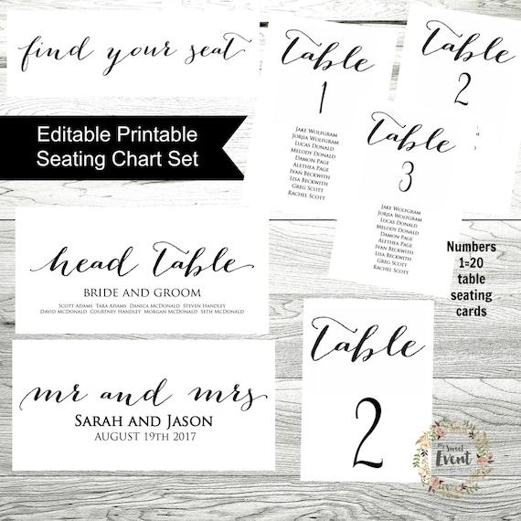wedding seating chart template printable wedding seating etsy
