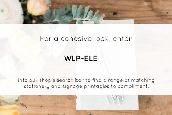 WLP-ELE 890 Wedding Template Wedding Sign Cards and Gifts Sign Printable Cards and Gifts Sign Edit with TEMPLETT