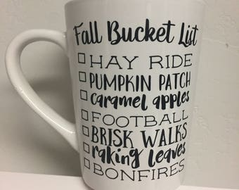 Fall Bucket List Coffee Mug