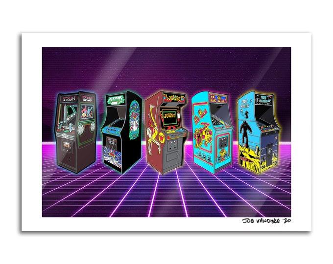 Retro Arcade 13x19 Print