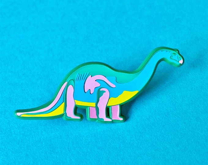 Neon Dino Pin