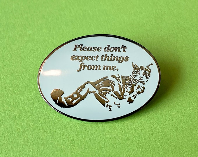 Cat Expectations Pin