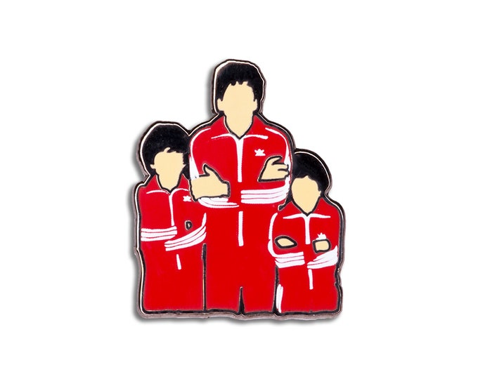 Tracksuit Triplets Pin